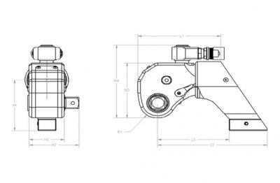 Hydraulikschrauber MaxDrv - Abmessungen